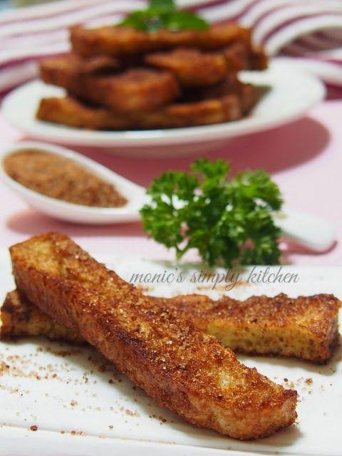 Resep Cinnamon French Toast Stick Roti Panggang Makanan Minuman Resep