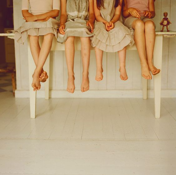 Family feet portrait