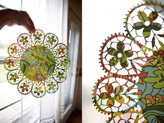 Ooooh: Paper Craft, Fabric Doilies, Party Doilies, Design Silhouette, Silhouette Ideas, Silhouette America, Cameo Ideas