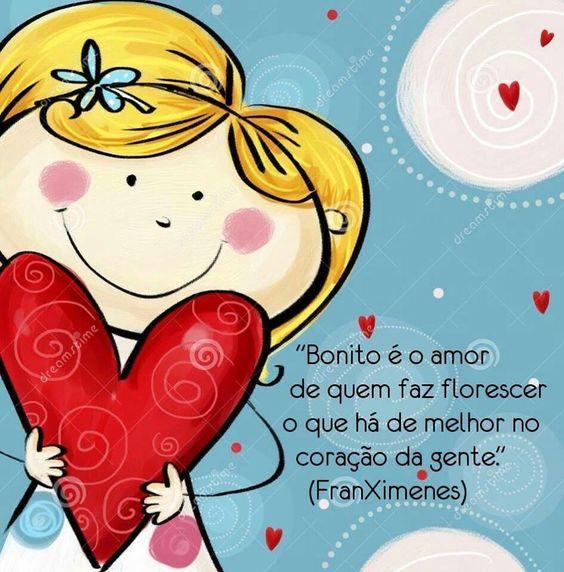 Bonito é o amor de quem faz florescer o que há de melhor…