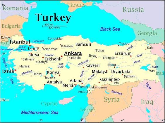 turkeymap Turkey Ottoman EmpirePostage stamps – Turkey on the Map of Europe
