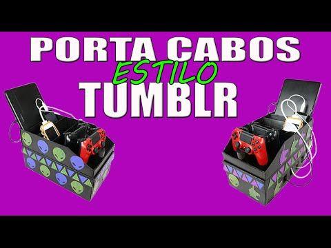 Caixa Porta Cabos - Estilo  Tumblr. Usei caixa de sapato, muito fácil
