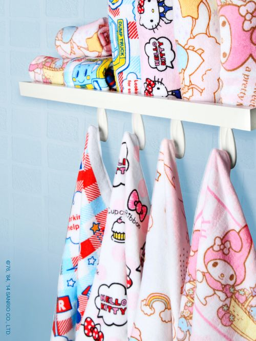 It's a wrap - gorgeous #HelloKitty towels, face cloths and hooded towels.  All at sanrio.com!