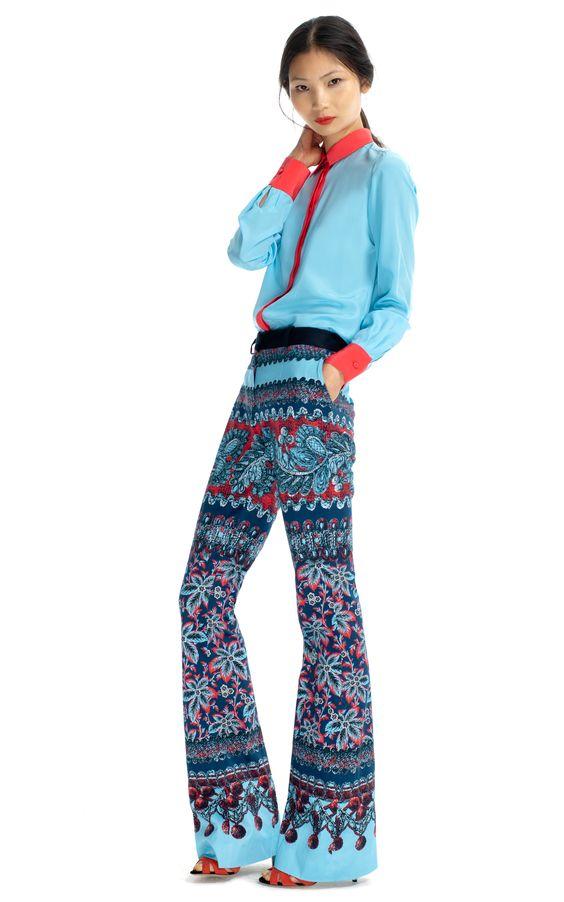 Prabal Gurung Flared Molded Seam Trousers