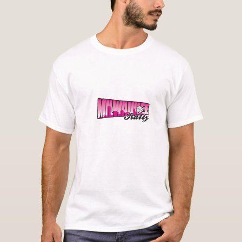 Milwaukee Rally Volleyball Club T Shirt Zazzle Com In 2020 Volleyball Clubs Volleyball Volleyball Training