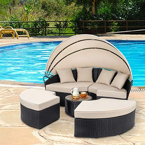 Check This Walsunny Patio Furniture Outdoor Lawn Backyard Poolside Ga Patio Furniture Patiofurniture Used Outdoor Furniture Patio Daybed Outdoor Furniture