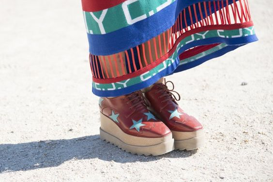 Pin for Later: Proof the Prettiest Street Style Accessories Were at Paris Fashion Week Day 4 Stella McCartney shoes.