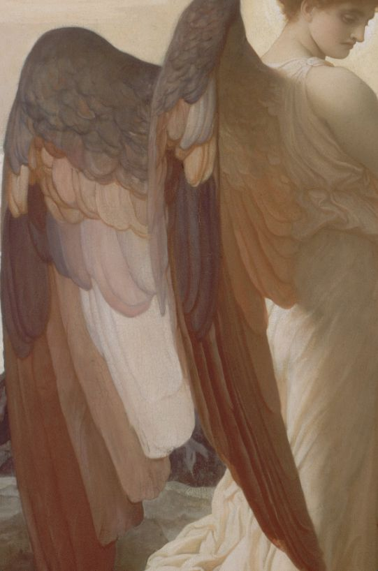 Frederic Leighton, Elijah in the Wilderness (detail) 1877-78: