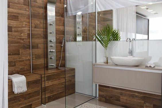 Decor Salteado - Blog de Decoração e Arquitetura : Porcelanato madeira em banheiros e lavabos – veja modelos lindos + dicas!