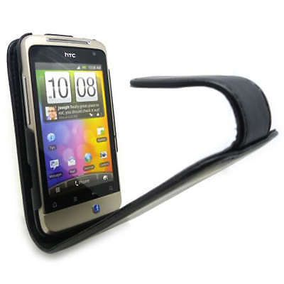 Top #quality black flip leather case cover for htc #salsa / g15 + screen #guard,  View more on the LINK: http://www.zeppy.io/product/gb/2/250904999096/