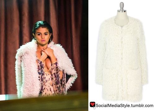 "Buy Selena Gomez's ""‪I Want You To Know‬"" Music Video White Faux Fur Coat, here!"