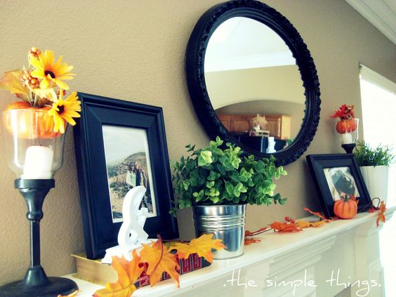 .the simple things.: .my fall mantel.
