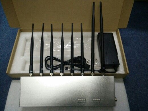 8 band UHF VHF signal jammer, 3G 4G signal blocker #mobilejammer