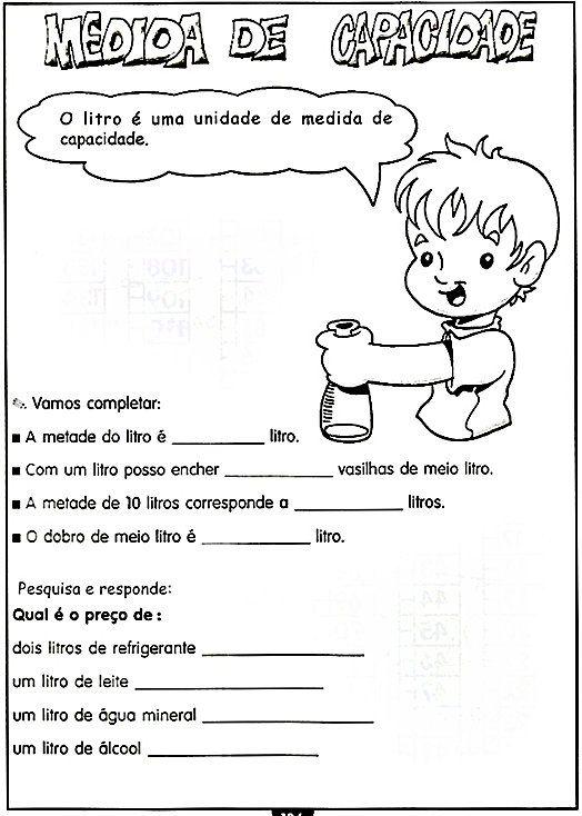 Atividades Escolares Sistema De Medidas Com Imagens