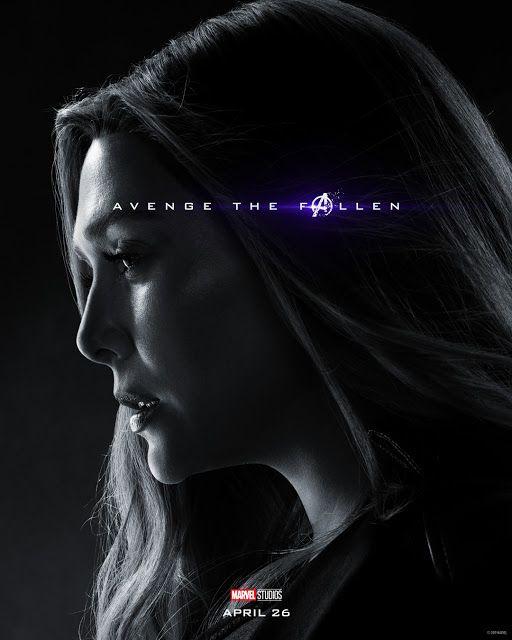 Elizabeth Olsen Bruja Escarlata Avengers Endgame Marvel Studios Marvel Posters Scarlet Witch Marvel Marvel Entertainment