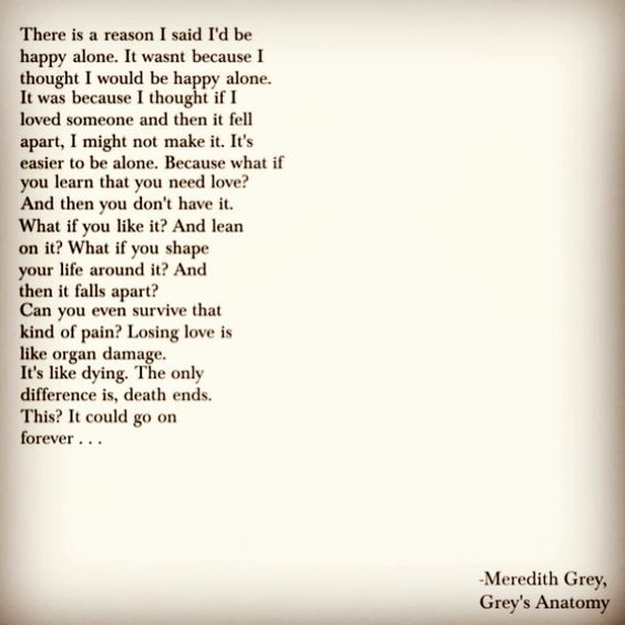 Greys Anatomy quote from Meredith Grey on the season 7 finale. Episode 2...