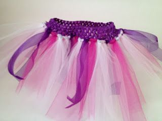 No Sew TuTu for 12 month to 4 yr olds.  Love it!