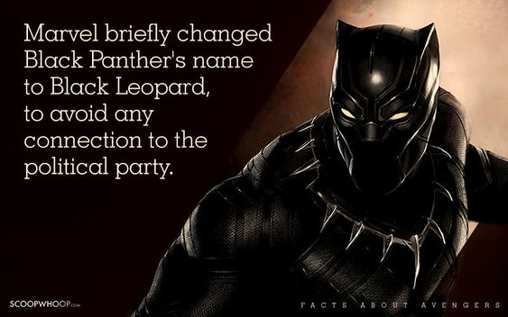 Marvel briefly changed Black Panther's name to Black Leopard, to avoid any connection to a political party.