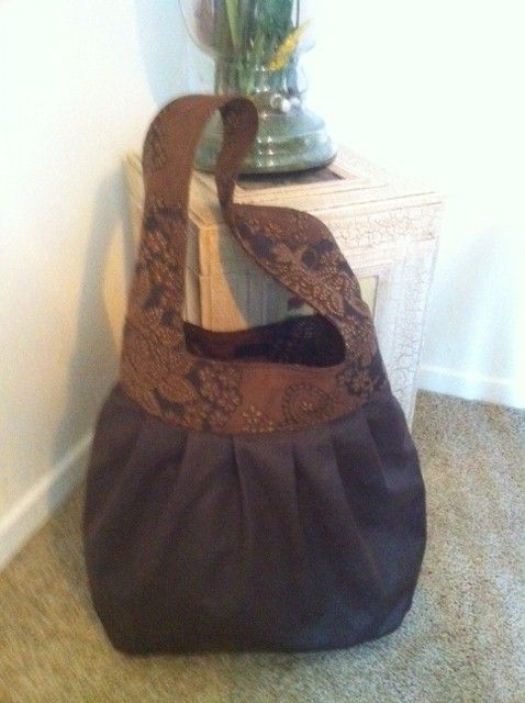 This is a perfect tote, out for the evening, easy fabric from JoAnns