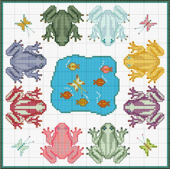 Frog Fantasy 2013 by embroiderbee
