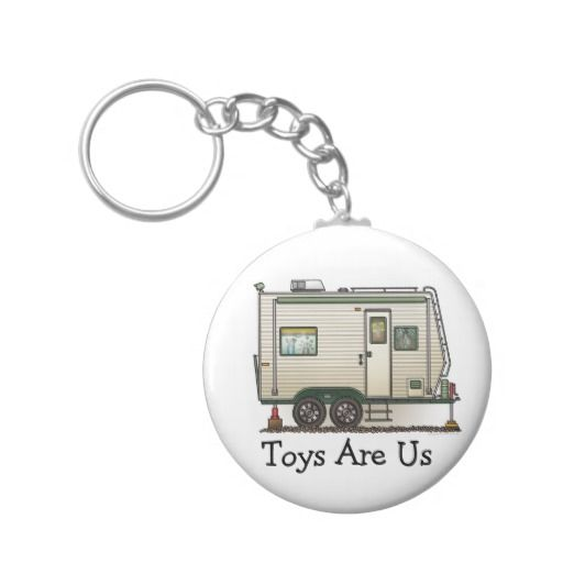 Cute RV Vintage Toy Hauler Camper Travel Trailer Key Chains