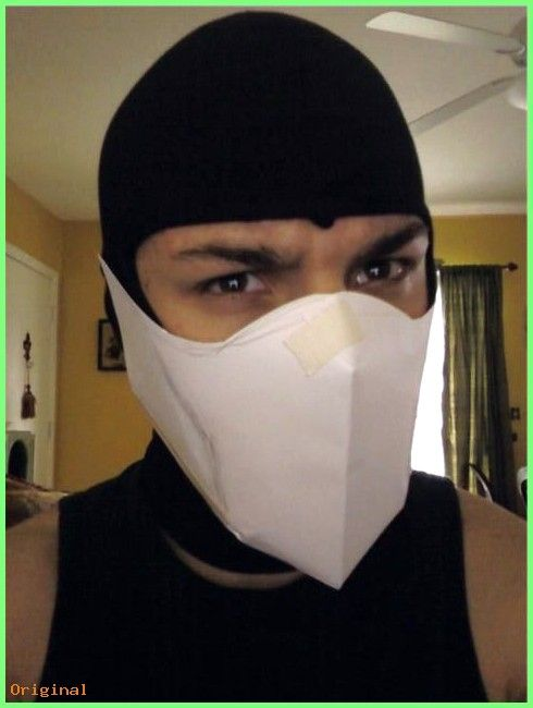 diy mortal kombat sub zero mask