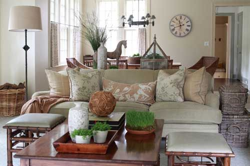 Cozy Chic Living Room Design In Greenwich Ct Family Room