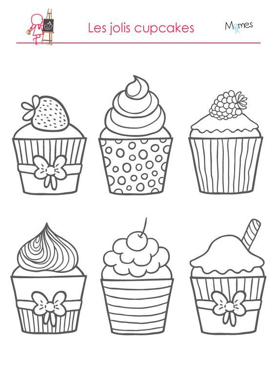 Coloriages : les délicieux cupcakes