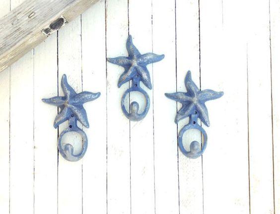 Iron Starfish Hook, Home Decor, For The Home, Beach House, Nursery Room, Customize