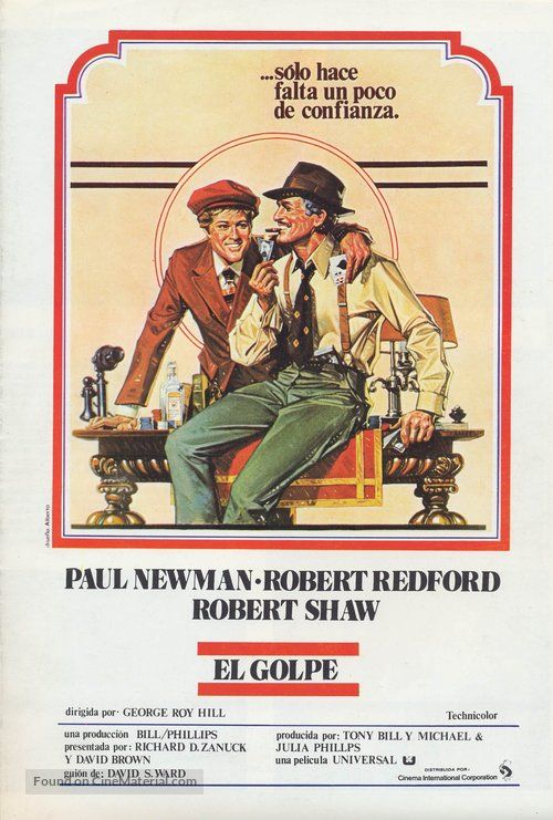 The sting Redford Newman  movie poster print