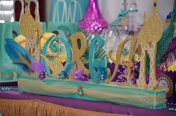 Princess Jasmine girl birthday party decorations!  See more party planning ideas at CatchMyParty.com!: