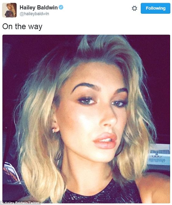 'On the way!' Baldwin's flaxen locks were coiffed by Jennifer Yepez, and she…