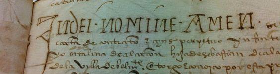 Alguna #letra de esta invocación divina parece copiada de los maravillosos Beatos medievales...  #Notarios #Archivos pic.twitter.com/1VkXskGtJO