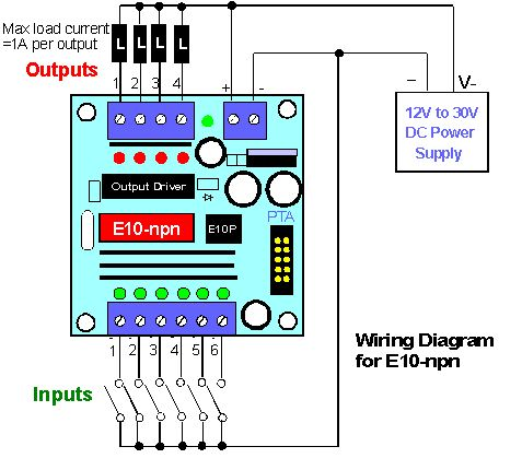 iv e10 npn wiring diagram ece electronic projects pinterest Home Stereo System Wiring Diagram circuit for plc and wiring diagram