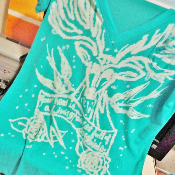 DIY Bleach Pen T-shirt Design