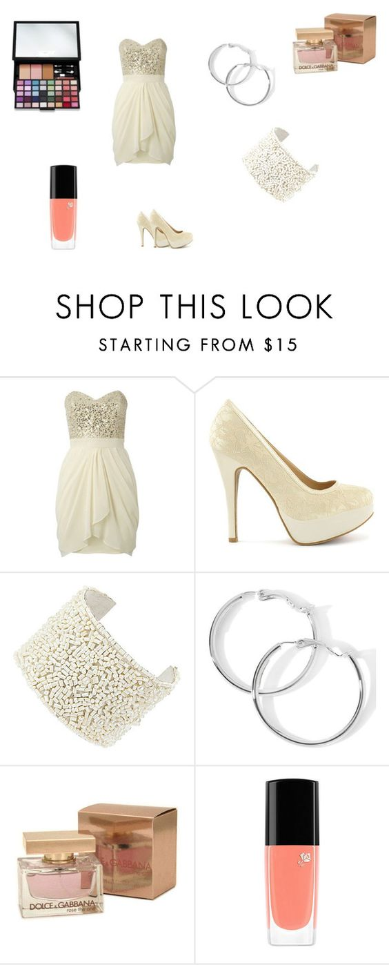 """""""vestito 18 anni"""" by marty-m ❤ liked on Polyvore featuring Lipsy, Sugarfree Shoes, Dolce&Gabbana, Lancôme and Victoria's Secret"""