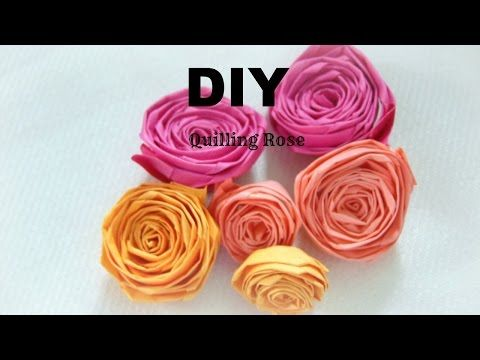 Paper Craft How To Make Paper Quilling Rose Easy Simple Diy In