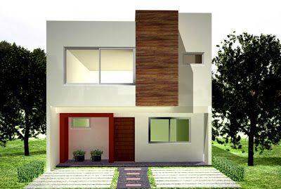 Fachadas de casas modernas casa moderna con fachada - Casas con chimeneas modernas ...