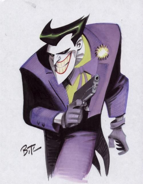 Bruce Timm's Joker, my favorite artistic version of the Joker.
