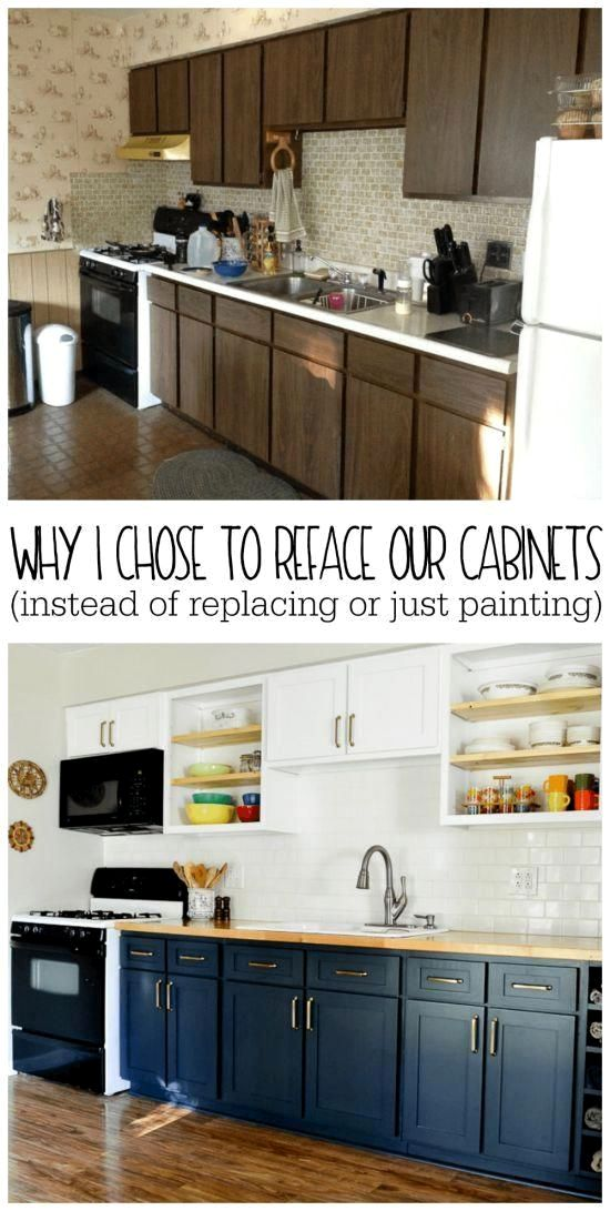 Why I Chose To Reface My Kitchen Cabinets Rather Than Paint Or Replace Refresh Living In 2020 Refacing Kitchen Cabinets New Kitchen Cabinets Diy Kitchen Cabinets