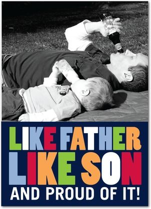 So Alike - Father's Day Greeting Cards - Hello Little One - Baltic - Blue : Front