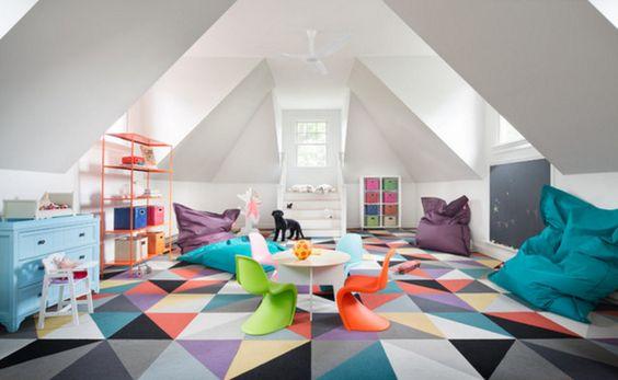 FLOR | Starburst Rug | Modern Kids Playspace