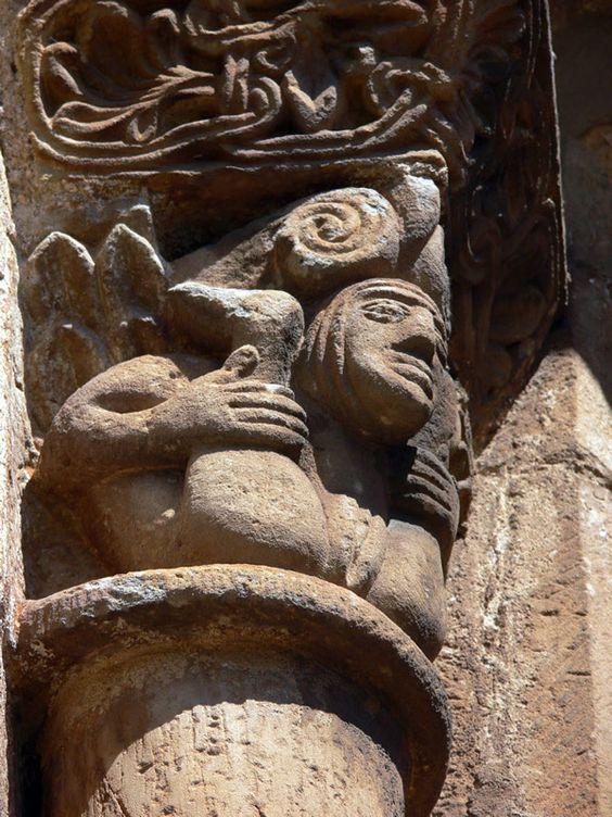 Erotic/rude capital, Collegiate Church of San Pedro de Cervatos, 12th C.  88.jpg (JPEG Image, 600×800 pixels)