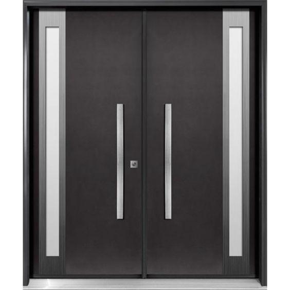 Fiberglass Entry Double Door Diagano Series Di22 Contemporary Front Doors Double Door Design Fiberglass Entry Doors