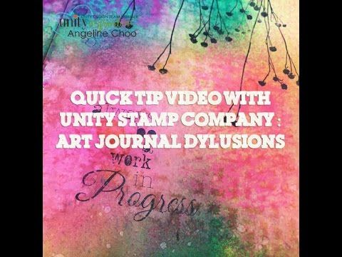 ScrappyScrappy Quick Tip with Unity Stamp: Art journal Dylusions - YouTube