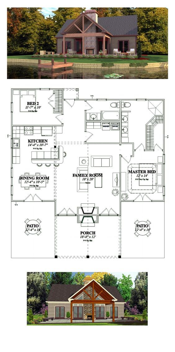Bungalow Style House Plan 78776 With 2 Bed 2 Bath Bungalow Style House Plans House Plans Best House Plans