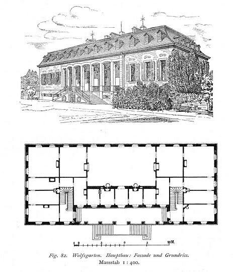 "Schloss Wolfgarten at Darmstadt, Germany floor plans. ""AL"""