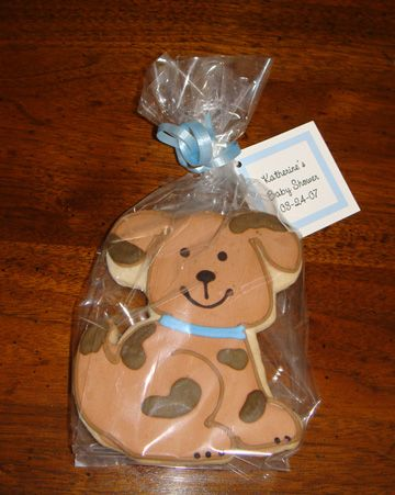 Boy Puppy Dog Round Personalized Party Tags 20 Ct Diy Baby