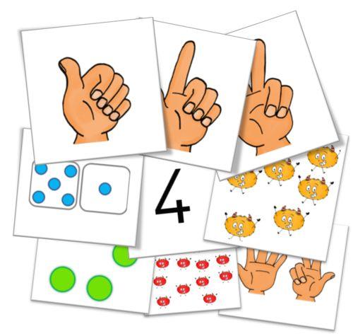 Cycle 1 - Jeux mathématiques - Les cartes nombres !