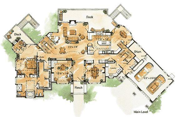 Plan 11576kn Gracious Lodge Home Plan House Plans Home Design Plans Luxury House Plans